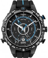 Buy Timex Intelligent Quartz Mens Black Indiglo Tide Temp Compass Watch online