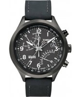 Buy Timex Intelligent Quartz Mens Black Fly Back Chronograph Watch online