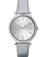 Buy Timex Ladies Originals Classic Silver Leather Watch online