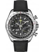 Buy Timex Intelligent Quartz Mens Black Fly Back Chronograph Watch online