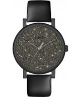 Buy Timex Ladies Classic Black Leather Watch with Crystals online