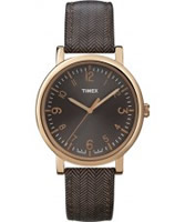 Buy Timex Classic Brown Stripe Leather Watch online