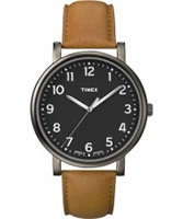 Buy Timex Classic Black and Tan Leather Strap Watch online