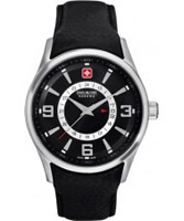 Buy Swiss Military Mens Silver and Black Navalus Watch online