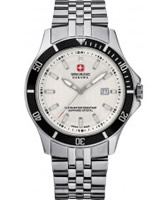 Buy Swiss Military Mens All Silver Flagship Watch online