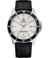 Buy Swiss Military Mens White and Black Flagship Watch online