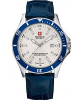 Buy Swiss Military Mens White and Blue Flagship Watch online