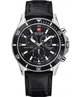 Buy Swiss Military Mens All Black Flagship Chrono Watch online