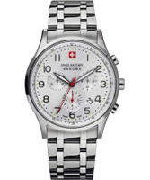 Buy Swiss Military Mens Patriot Silver Bracelet Watch online