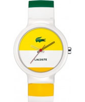 Buy Lacoste Yellow and White Goa Watch online