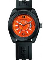 Buy BOSS Orange Mens Orange and Black H-2105 Watch online