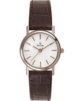 Buy Bulova Ladies Dress White Brown Watch online
