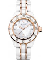 Buy Bulova Accutron Ladies Mirador White Rose Gold Watch online