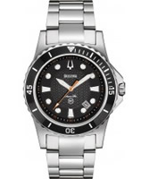Buy Bulova Mens Marine Star Black Steel Watch online