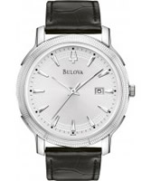 Buy Bulova Mens Dress Silver Black Watch online
