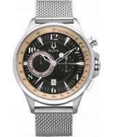 Buy Bulova Mens Adventurer Chronograph Silver Black Watch online