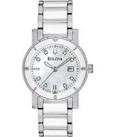 Buy Bulova Ladies Diamonds Ceramic Steel Watch online