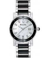 Buy Bulova Ladies Diamonds White Black Watch online