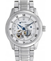 Buy Bulova Mens Mechanical Silver Watch online