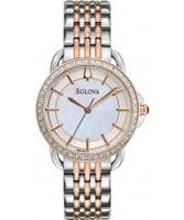 Buy Bulova Ladies White Silver Gold Watch online