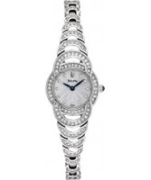 Buy Bulova Ladies Crystal Silver Tone Watch online