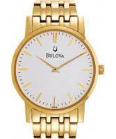 Buy Bulova Mens Gold Plated Dress Watch online