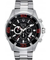 Buy Bulova Mens Chronograph Grey Silver Watch online