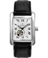Buy Bulova Mens Mechanical White Black Watch online