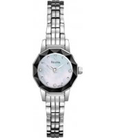 Buy Bulova Ladies Diamond White Steel Watch online