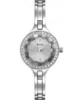 Buy Bulova Ladies Crystal Silver Watch online