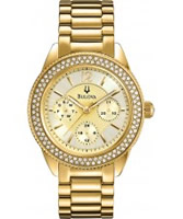 Buy Bulova Ladies Gold Plated Watch online