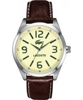 Buy Lacoste Mens Cream and Brown Montreal Watch online