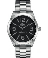 Buy Lacoste Mens Black and Silver Montreal Watch online