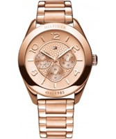 Buy Tommy Hilfiger Ladies Rose Gold Gracie Chronograph Watch online