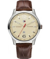 Buy Tommy Hilfiger Mens Cream and Brown Ainsley Watch online