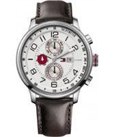 Buy Tommy Hilfiger Mens Silver and Black Tyler Watch online