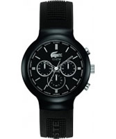 Buy Lacoste Mens Black Borneo Chronograph Watch online
