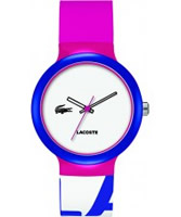 Buy Lacoste White and Pink Goa Watch online