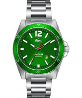 Buy Lacoste Mens Green and Silver Seattle Watch online