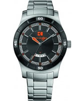 Buy BOSS Orange Mens Black and Silver H-2102 Watch online
