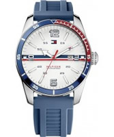 Buy Tommy Hilfiger Mens White and Blue Noah Watch online