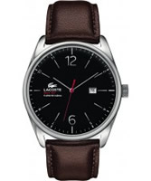 Buy Lacoste Mens Black and Brown Austin Watch online