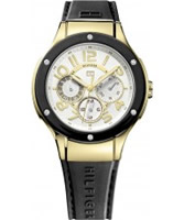 Buy Tommy Hilfiger Ladies White and Black Ainsley Chronograph Watch online