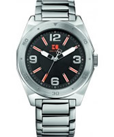 Buy BOSS Orange Mens Black and Silver H-7008 Watch online
