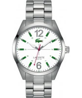 Buy Lacoste Mens White and Silver Montreal Watch online