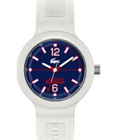 Buy Lacoste Mens Blue and White Borneo Watch online
