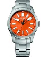 Buy BOSS Orange Mens Orange and Silver H-7001 Watch online