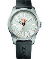 Buy BOSS Orange Mens Silver and Black H-7001 Watch online