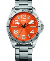 Buy BOSS Orange Mens Orange and Silver H-7004 Watch online