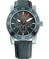 Buy BOSS Orange Mens Black H-0303 Chronograph Watch online